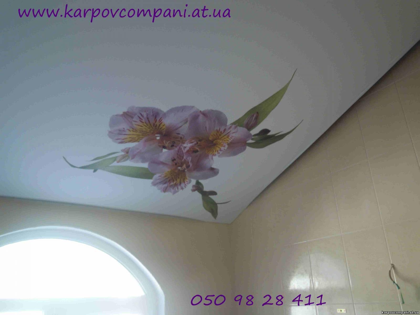 Фото цветов на угол на натяжные потолки
